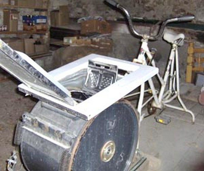 Convert An Electric Washing Machine To Pedal Power Diy