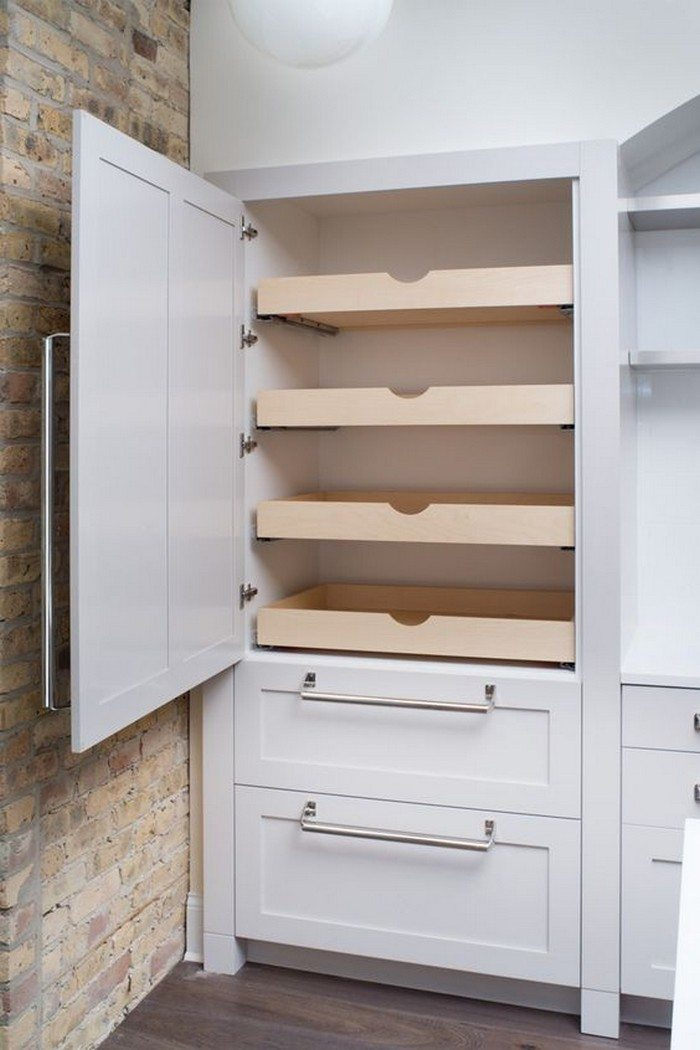 How to build pull out pantry shelves diy projects for everyone - Bathroom pantry cabinets ...