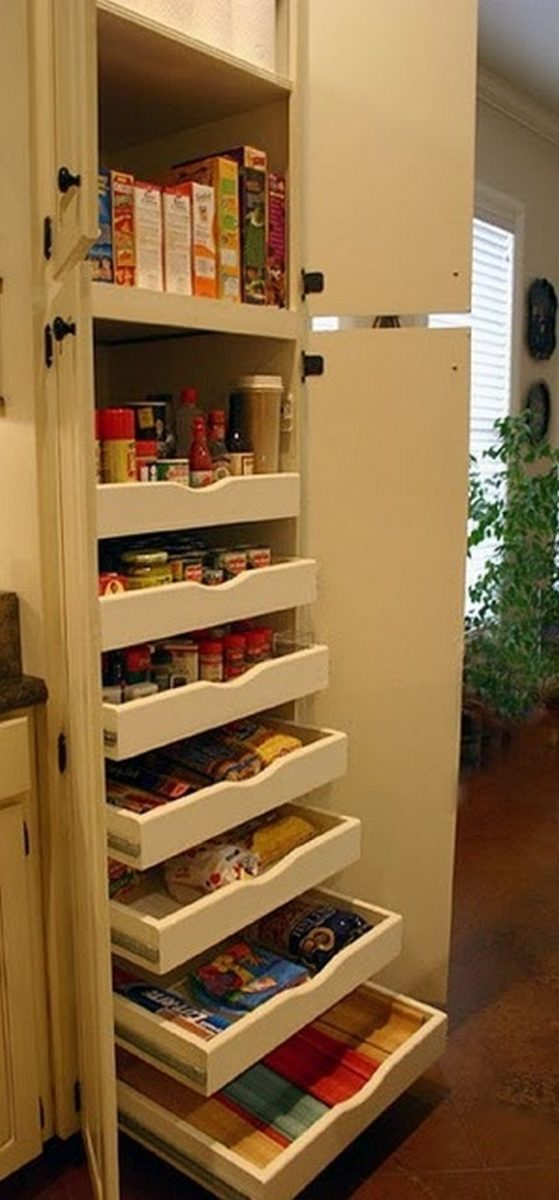 how to build pull out pantry shelves diy projects for. Black Bedroom Furniture Sets. Home Design Ideas