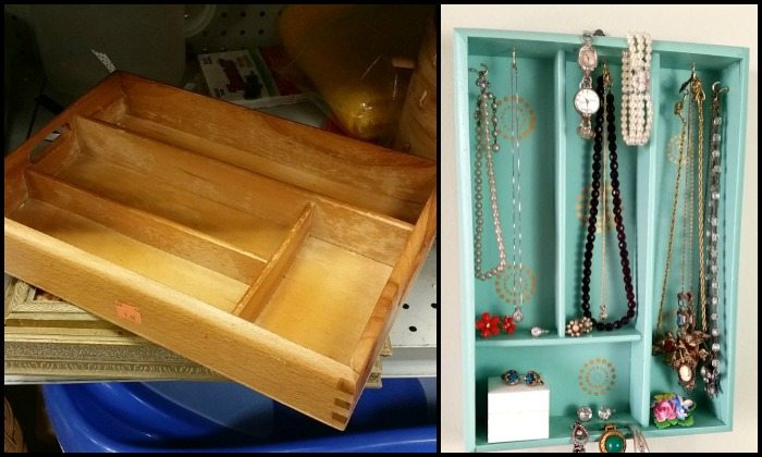 Turn a cutlery tray into a jewelry organizer