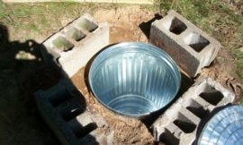 How to make a trash can root cellar
