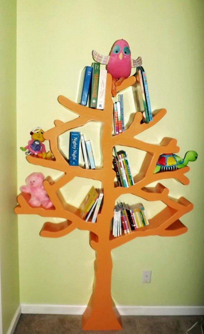 Wooden shelves tree tree branch bookshelf diy tree shaped shelf - Tree Shaped Bookshelf