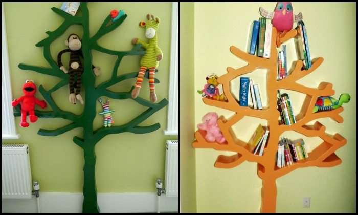 Build a tree shaped bookshelf