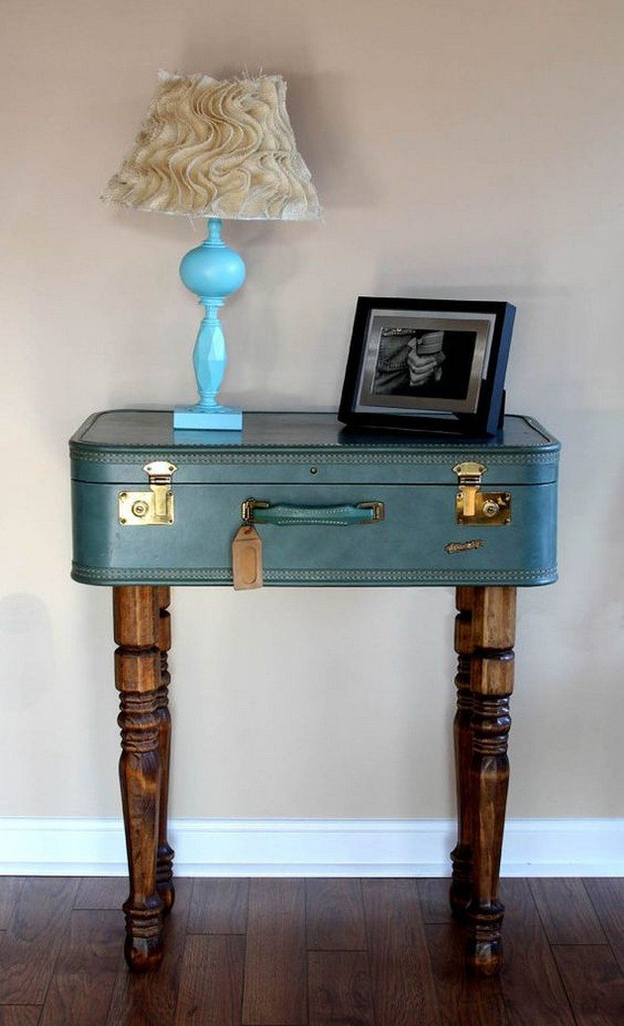 Upcycled Vintage Suitcase Side Table