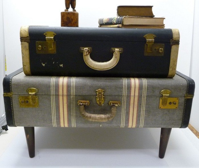Upcycled vintage suitcase side table diy projects for - Vintage suitcase ...
