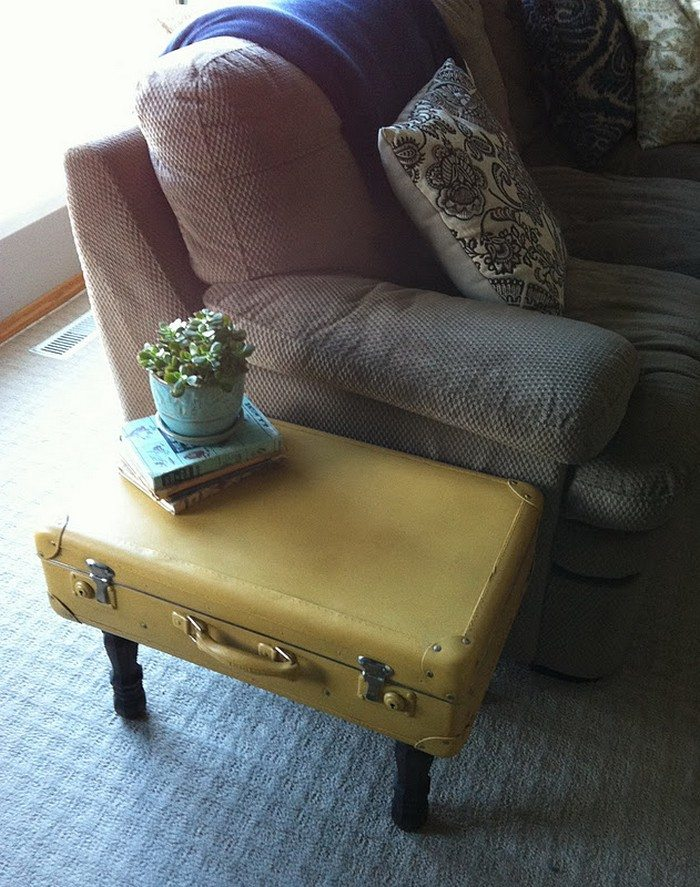 Upcycled Vintage Suitcase Side Table | DIY projects for ...