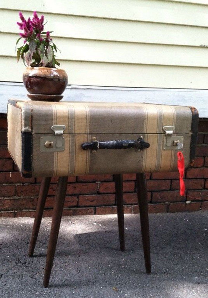 Upcycled Vintage Suitcase Side Table Diy Projects For