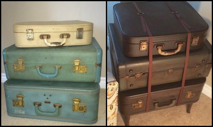 Upcycled Vintage Suitcase Side Table | DIY projects for everyone!