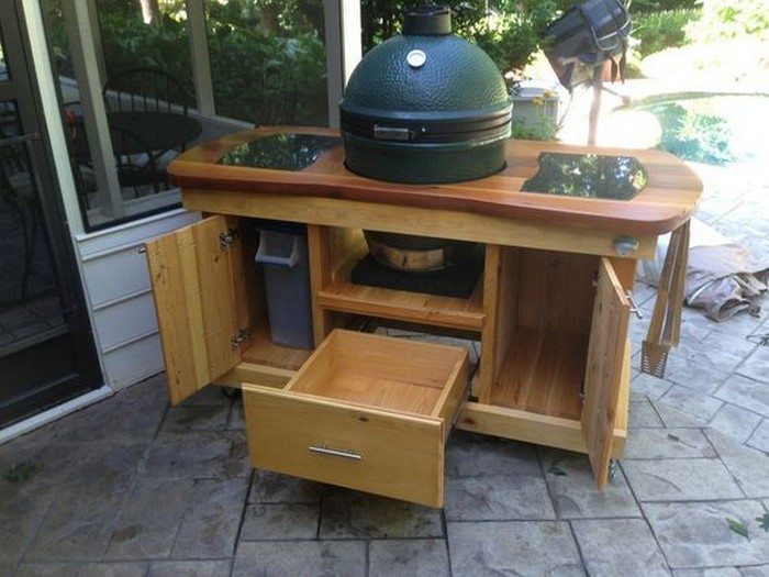 Island with cabinets wooden pallet kitchen island with cabinets - Build A Barbecue Grill Table Diy Projects For Everyone