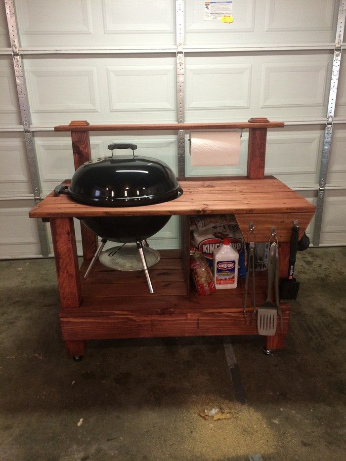 Diy Weber Kettle Grill Table Diy Do It Your Self