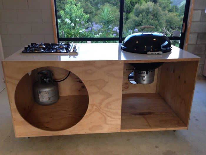 Build a barbecue grill table DIY projects for everyone! - Adjust Kitchen Cabinet Doors