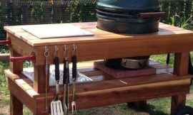 Build a barbecue grill table