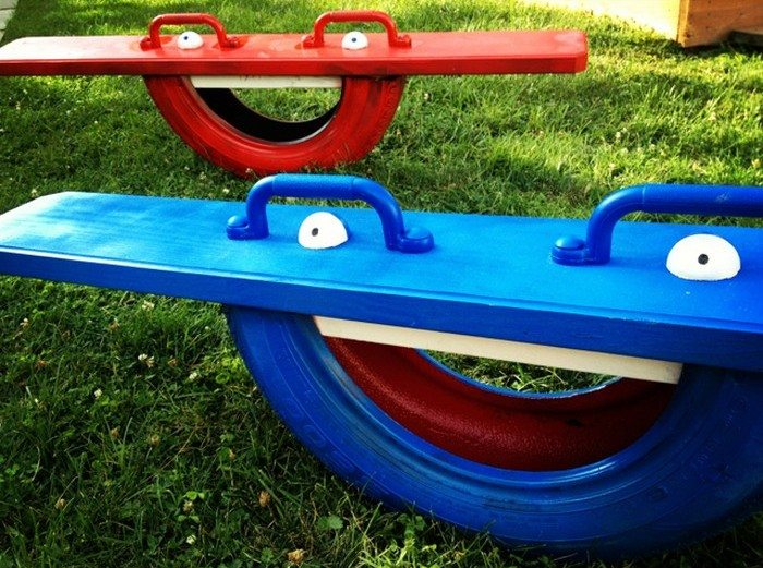 Build a seesaw from a repurposed tire | DIY projects for everyone!