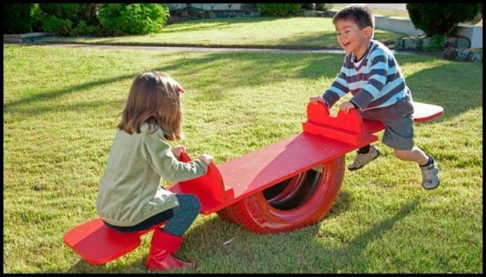 DIY Tire Seesaw Main Image