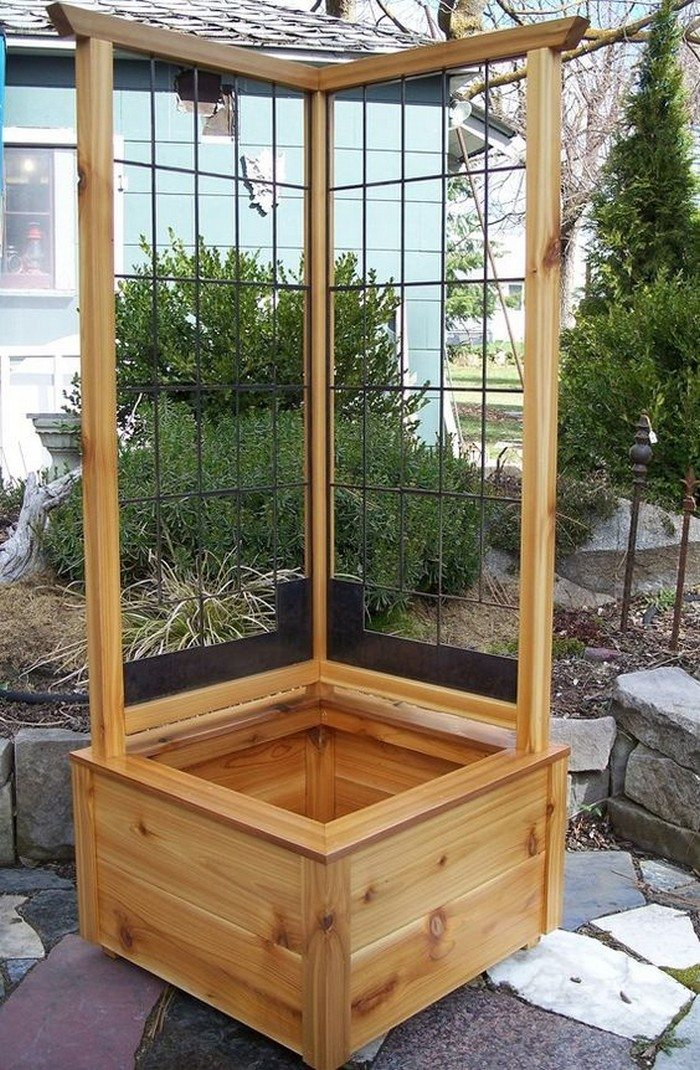 Build A Garden Grow Box And Trellis Combo Diy Projects