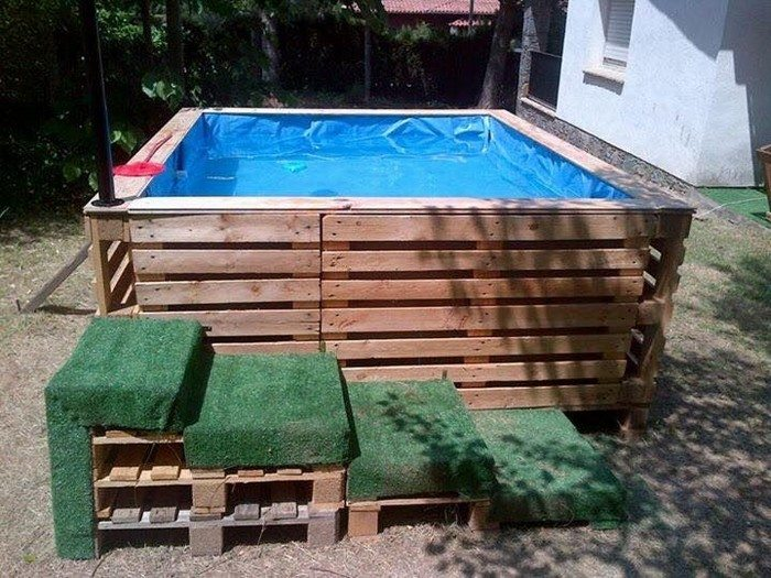 Swimming Pool From Recycled Pallets DIY Projects For