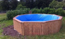 Swimming pool from recycled pallets
