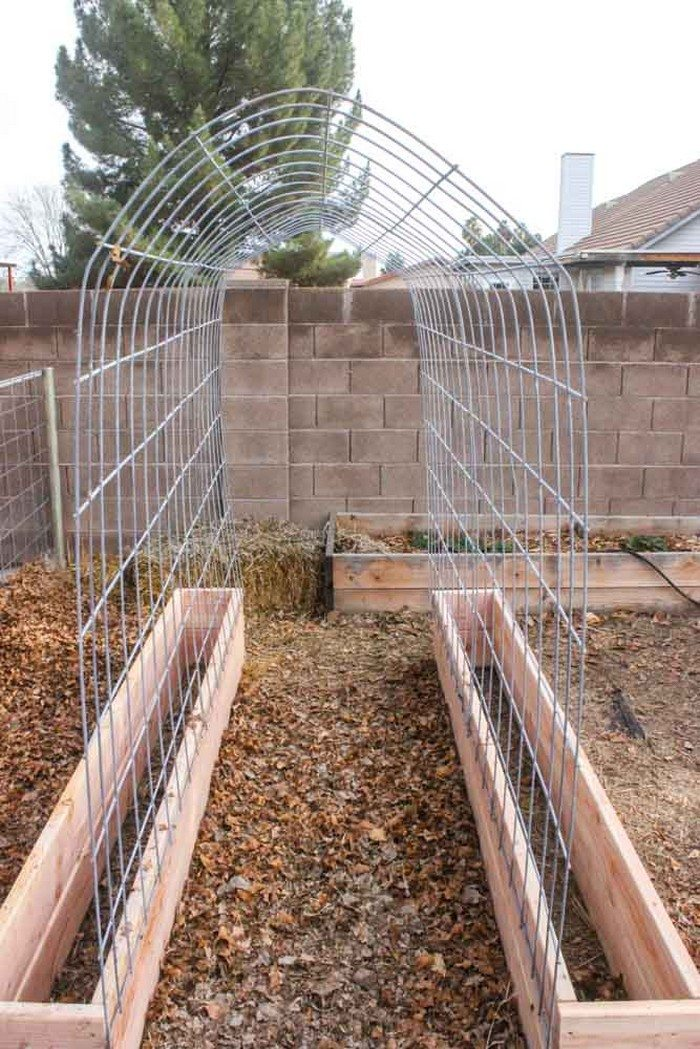 Trellis and raised garden box combo DIY projects for