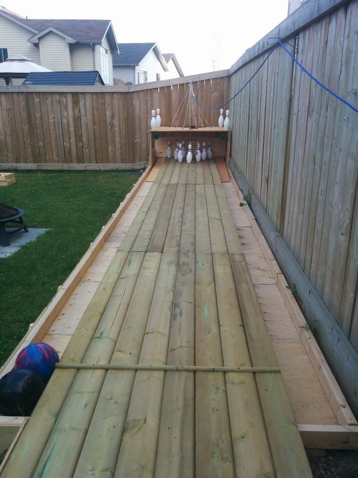 Build A Backyard Bowling Alley Diy Projects For Everyone