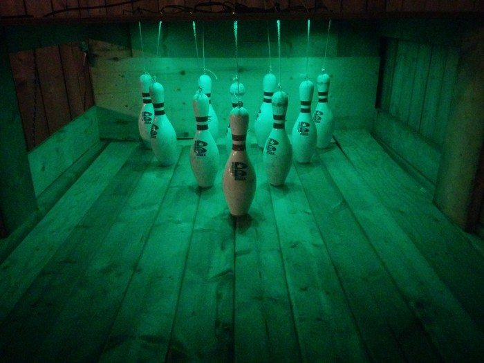 Build a backyard bowling alley!
