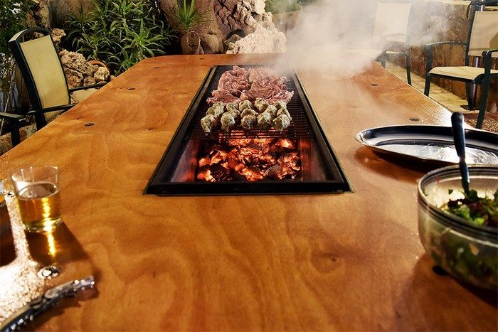 How To Build A Barbecue Grill And Table Combo Diy