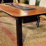 Barbecue Grill and Table Combo