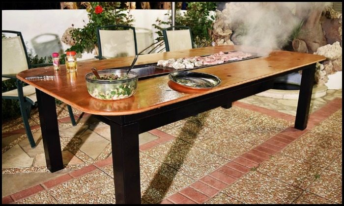 How To Build A Barbecue Grill And Table Combo DIY Projects For Everyone