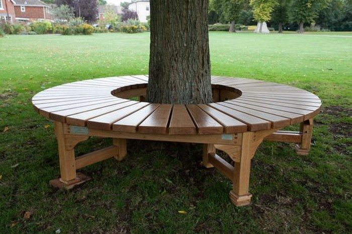 How to build a bench around a tree | DIY projects for ...