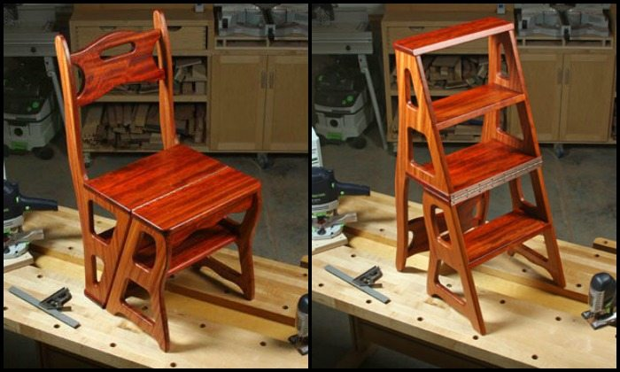 Build a convertible step stool
