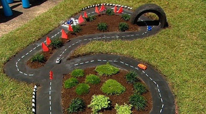 Make a DIY outdoor race car track for your kids! | DIY projects for ...