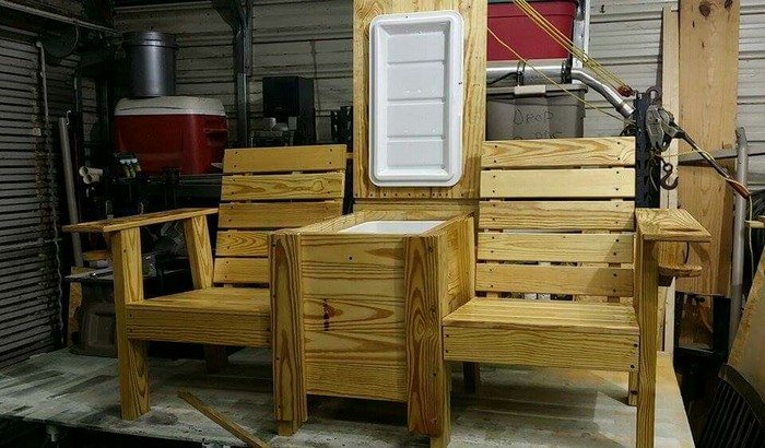Build a double chair bench with table | DIY projects for ...