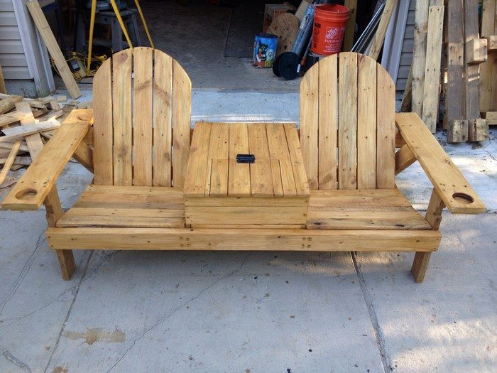 Build a double chair bench with table