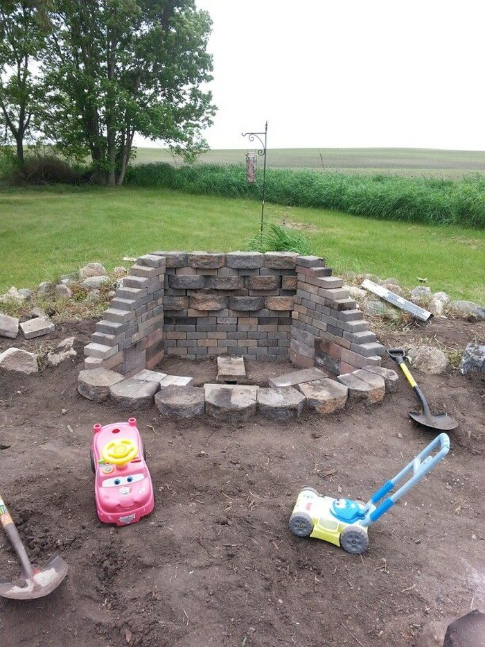 Diy landscaping blocks : Fire pit from cement landscape blocks diy projects for everyone