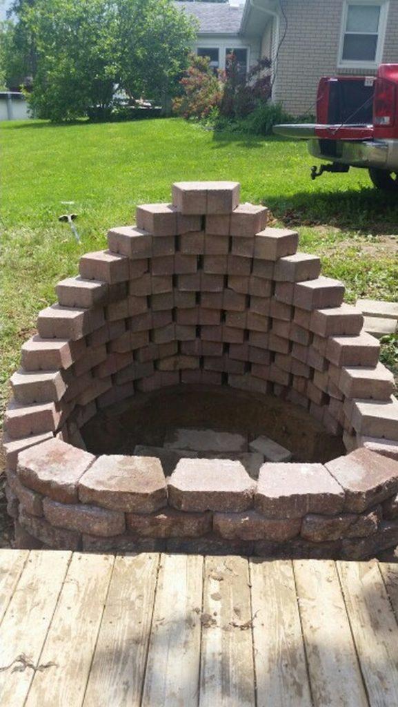 Fire Pit Cement Landscape Blocks