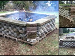 Fire Pit Cement Landscape Blocks Main