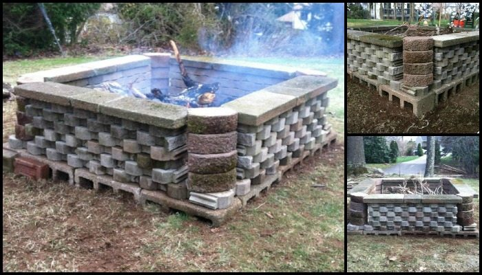 Build a fire pit from cement landscape blocks diy for How to build a fire pit with concrete blocks