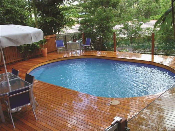 Build an inexpensive above ground swimming pool diy for Above ground pools