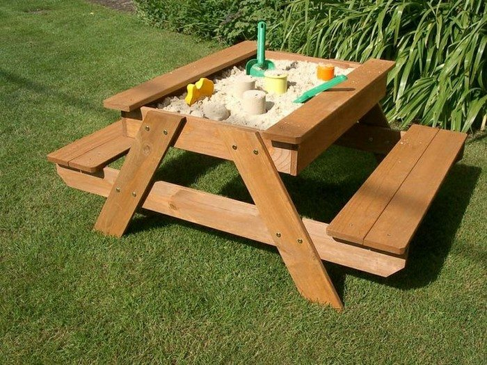 This How To Build A Kids Picnic Table And Sandbox Combo. For more ...