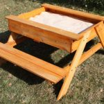 Kids Picnic Table with Sandbox