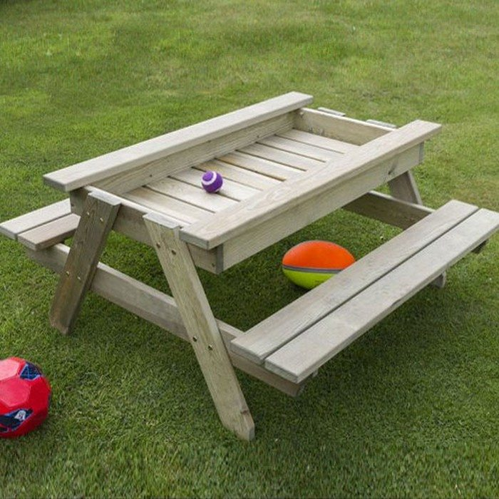 How To Build A Kids Picnic Table And Sandbox Combo DIY