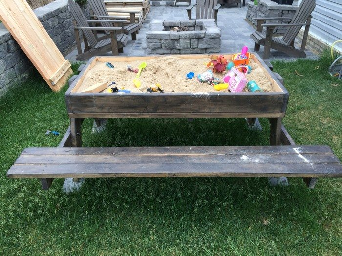 how to build a sandbox picnic table