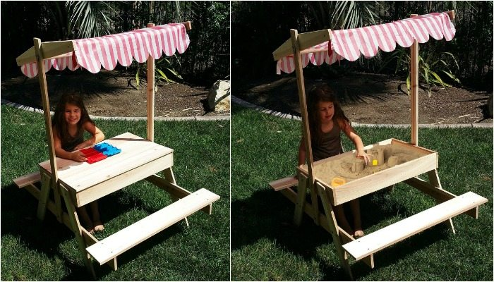 Kids Picnic Table with Sandbox Amazon