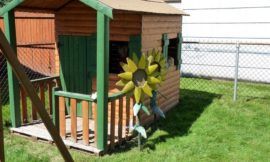 How to Build a Log Cabin Playhouse