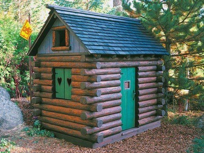 how to build a log cabin playhouse diy projects for