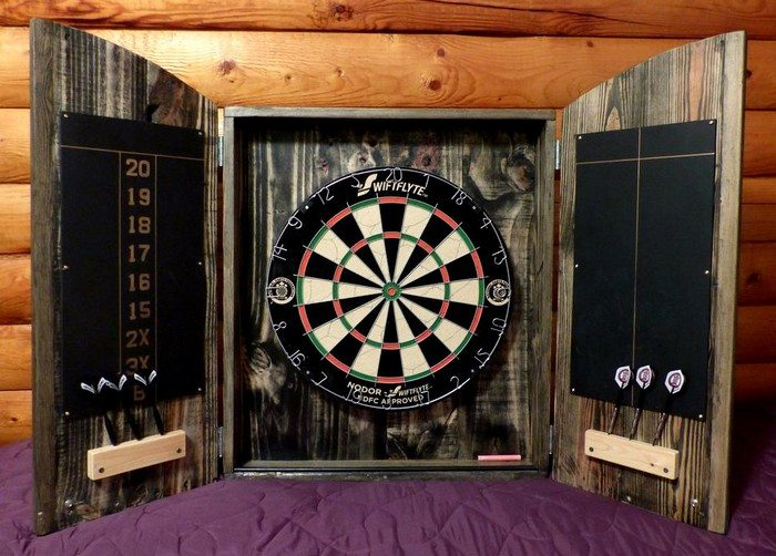 How to Make a Dartboard Cabinet using Pallets
