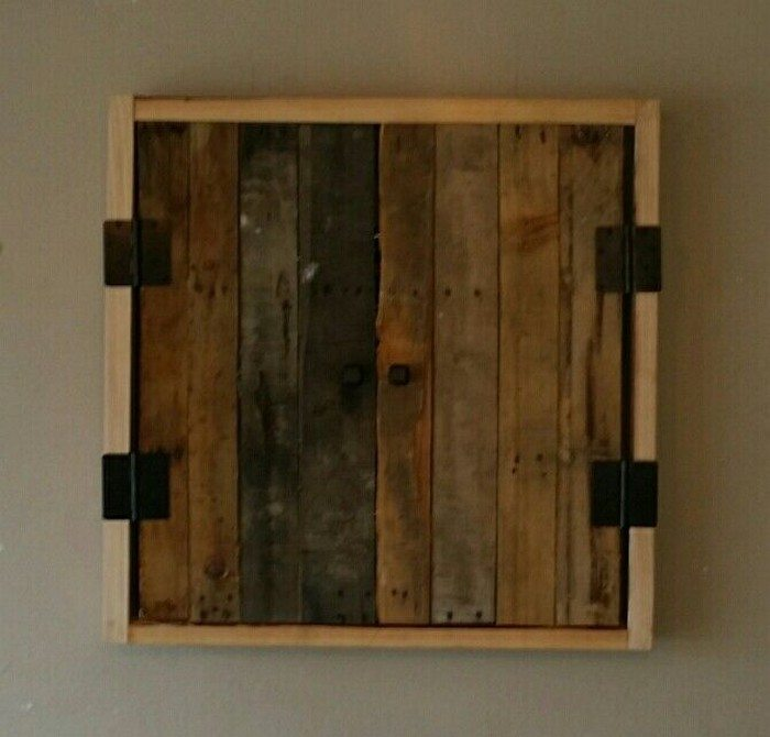How To Make A Dartboard Cabinet Using Pallets DIY