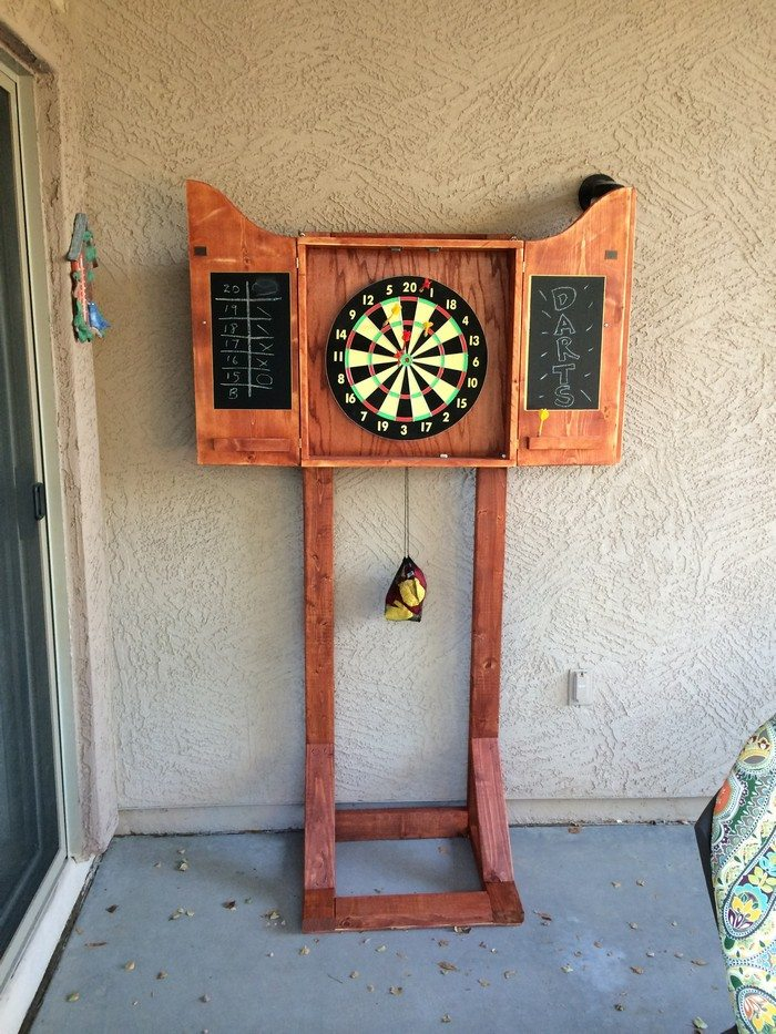 How to Make a Dartboard Cabinet using Pallets | DIY projects for ...