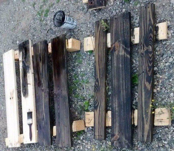 Pallet Dartboard Cabinet