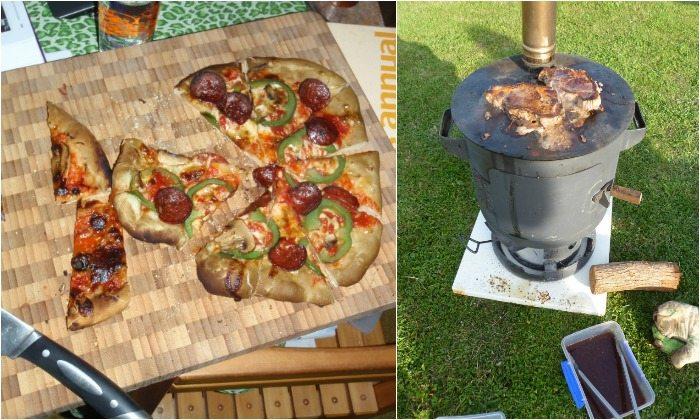 Patio Heater Pizza Oven Combo