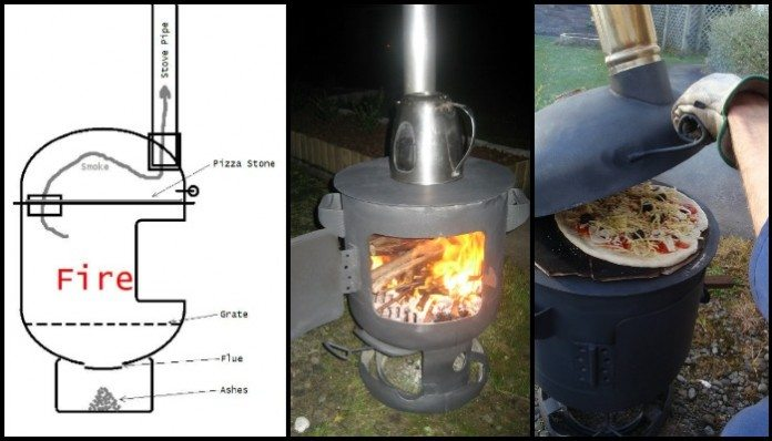 Pizza Oven Patio Heater Combo